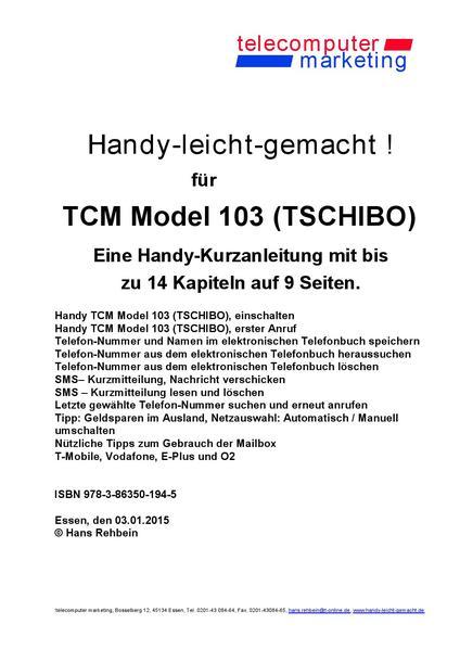 Tchibo TCM Modell 103-leicht-gemacht - Coverbild