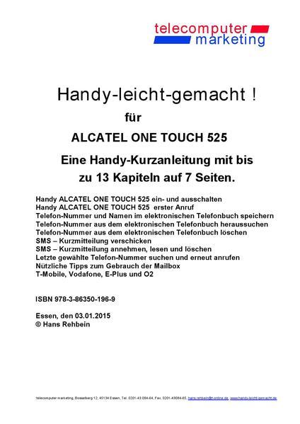 Alcatel One Touch 525-leicht-gemacht - Coverbild