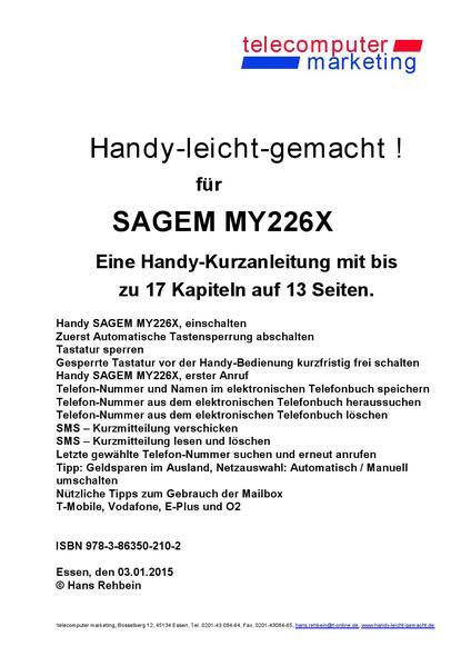 Sagem my226X-leicht-gemacht - Coverbild