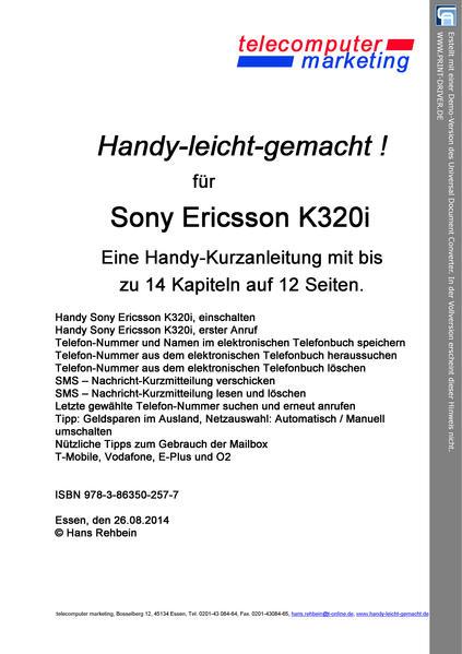 Sony Ericsson K320i-leicht-gemacht - Coverbild