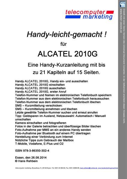 ALCATEL 2010G leicht-gemacht - Coverbild