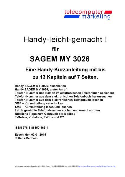 Sagem MY 3026-leicht-gemacht - Coverbild