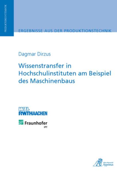 Wissenstransfer in Hochschulinstituten am Beispiel des Maschinenbaus - Coverbild