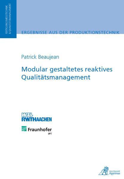 Modular gestaltetes reaktives Qualitätsmanagement - Coverbild