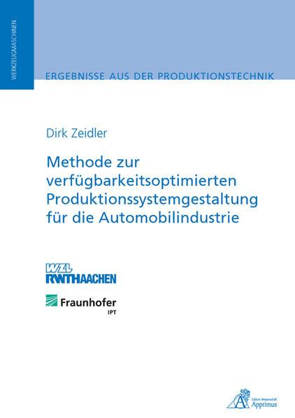 Methode zur verfügbarkeitsoptimierten Produktionssystemgestaltung für die Automobilindustrie - Coverbild