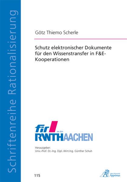 Schutz elektronischer Dokumente für den Wissenstransfer in F&E-Kooperationen - Coverbild
