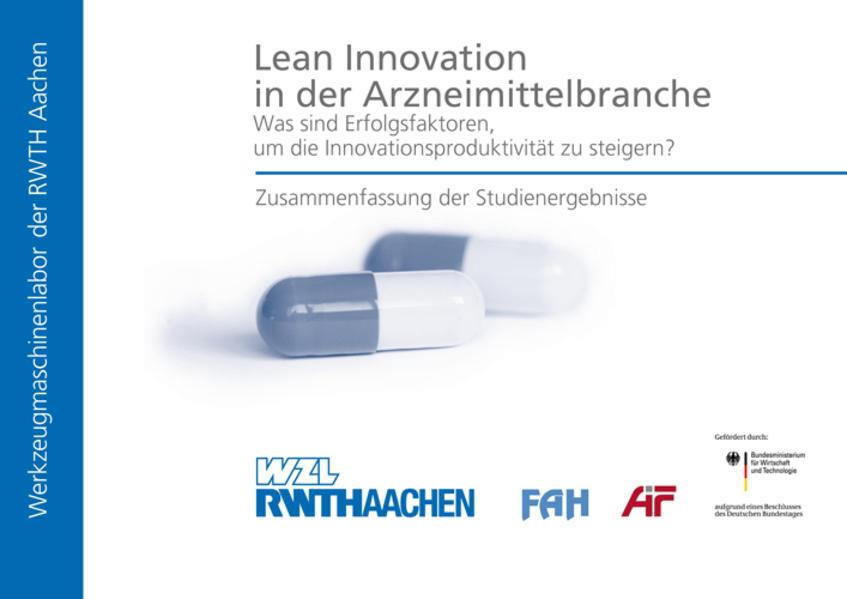 Lean Innovation in der Arzneimittelbranche - Was sind Erfolgsfaktoren, um die Innovationsproduktivität zu steigern? - Coverbild