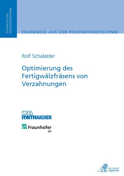 Optimierung des Fertigwälzfräsens von Verzahnungen - Coverbild