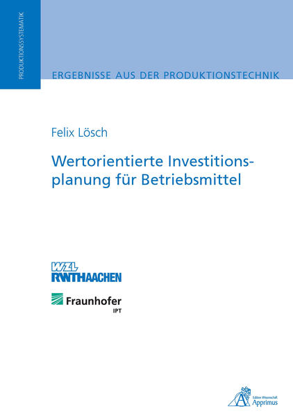 Wertorientierte Investitionsplanung für Betriebsmittel - Coverbild