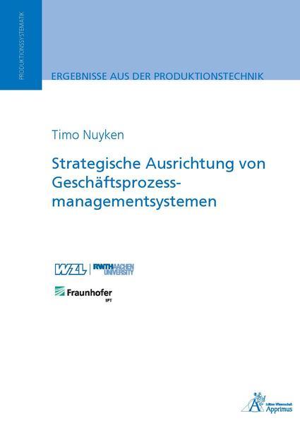 Strategische Ausrichtung von Geschäftsprozessmanagementsystemen - Coverbild