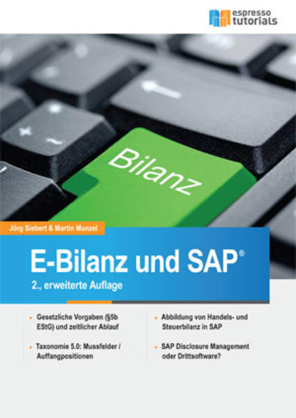 E-Bilanz und SAP® - Coverbild