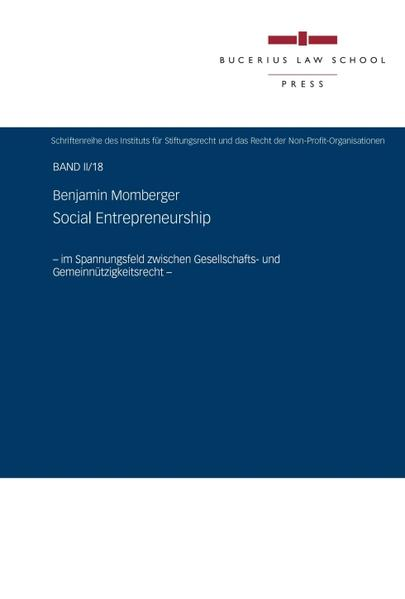 Social Entrepreneurship - Coverbild