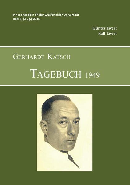 Gerhardt Katsch - Tagebuch 1949 - Coverbild