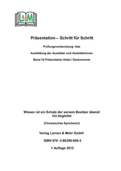 Präsentation  - Schritt für Schritt, Band 6, Fachwirt Gesundheit / Sozialwirtschaft, AEVO - Coverbild
