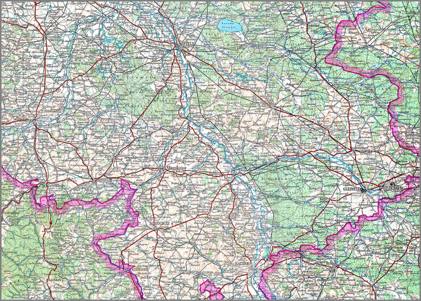 Karte von Schlesien - Coverbild