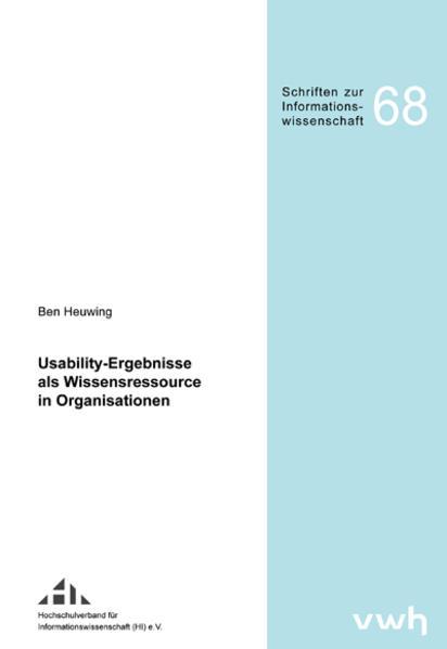 Usability-Ergebnisse als Wissensressource in Organisationen - Coverbild
