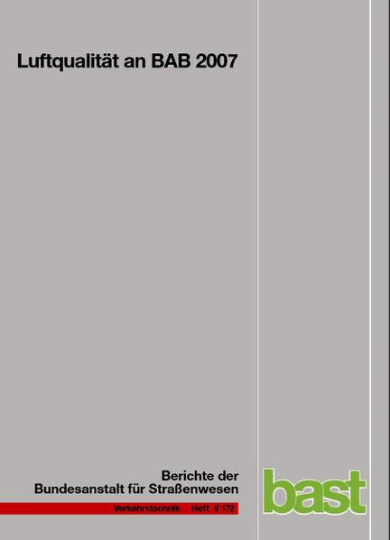 Luftqualität an BAB 2007 - Coverbild