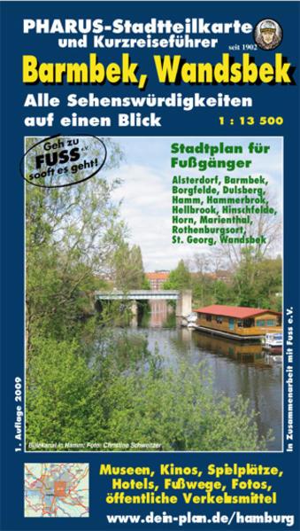 Pharus-Stadtteilkarte und Kurzreiseführer Barmbek, Wandsbek - Coverbild
