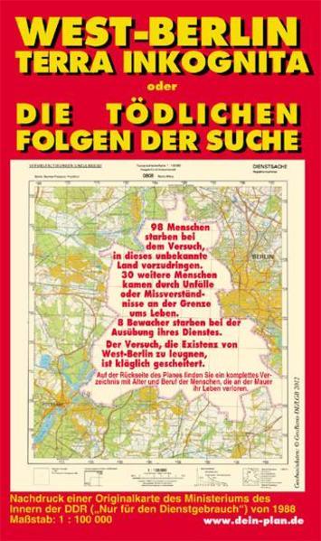 West-Berlin. Terra Inkognita oder Die tödlichen Folgen der Suche - Coverbild