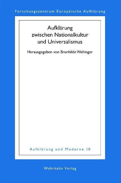 Aufklärung zwischen Nationalkultur und Universalismus - Coverbild
