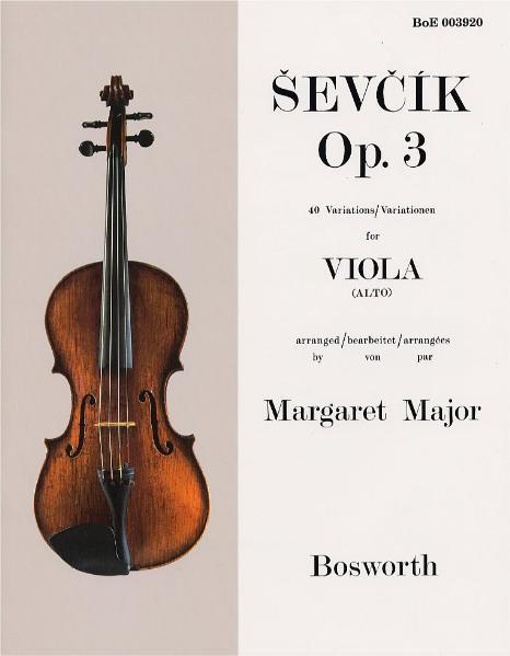 Sevcik Viola Sudies - Opus 3 - Coverbild