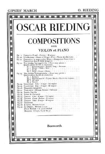 Zigeuner-Marsch, Op.23 No. 2 für Violine und Klavier - Coverbild