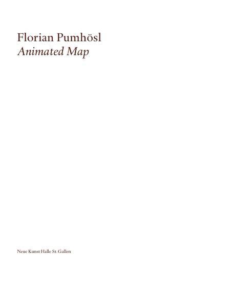 Florian Pumhösl. Animated Map. Deutsche Ausgabe - Coverbild