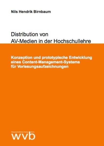 Distribution von AV-Medien in der Hochschullehre - Coverbild