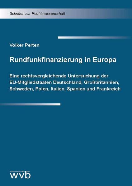 Rundfunkfinanzierung in Europa - Coverbild