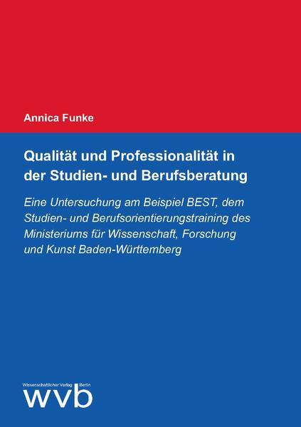 Qualität und Professionalität in der Studien- und Berufsberatung - Coverbild