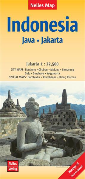 Nelles Map Landkarte Indonesia :  Java, Jakarta - Coverbild