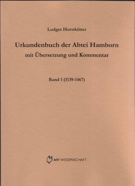 Urkundenbuch der Abtei Hamborn - Coverbild