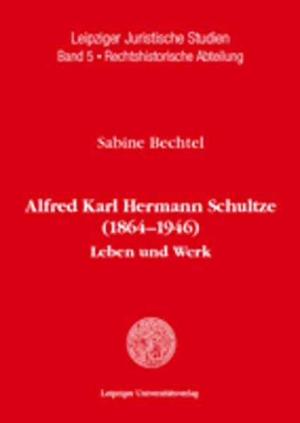 Alfred Karl Hermann Schultze (1864-1946) - Coverbild