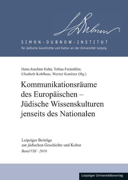 Kommunikationsräume des Europäischen - Jüdische Wissenskulturen jenseits des Nationalen - Coverbild