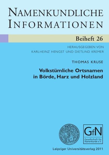 Volkstümliche Ortsnamen in Börde, Harz und Holzland - Coverbild
