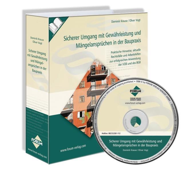 Sicherer Umgang mit Gewährleistung und Mängelansprüchen in der Baupraxis mit CD-ROM - Coverbild