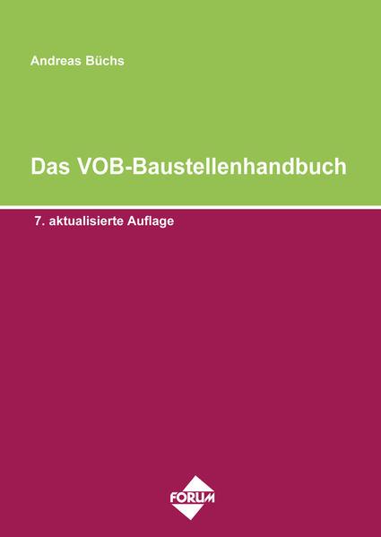 Das VOB-Baustellenhandbuch - Coverbild
