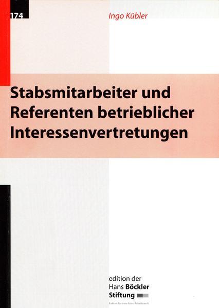 Stabsmitarbeiter und Referenten betrieblicher Interessenvertretungen - Coverbild