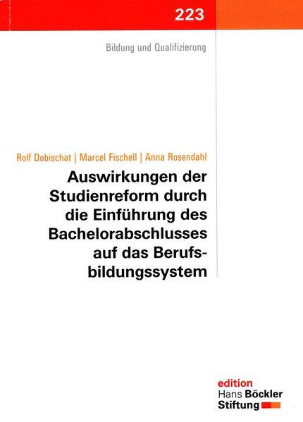 Auswirkungen der Studienreform durch die Einführung des Bachelorabschlusses auf das Berufsbildungssystem - Coverbild