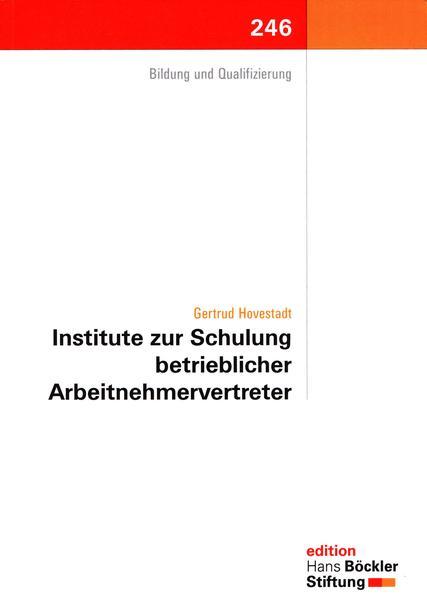 Institute zur Schulung betrieblicher Arbeitnehmervertreter - Coverbild