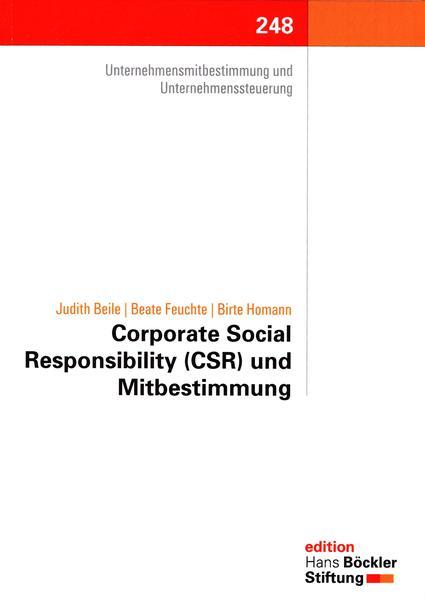 Corporate Social Responsibility (CSR) und Mitbestimmung - Coverbild