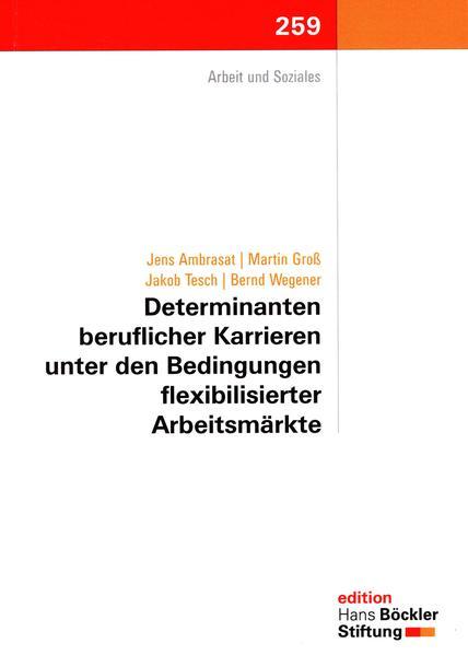 Determinanten beruflicher Karrieren unter den Bedingungen flexibler Arbeitsmärkte - Coverbild