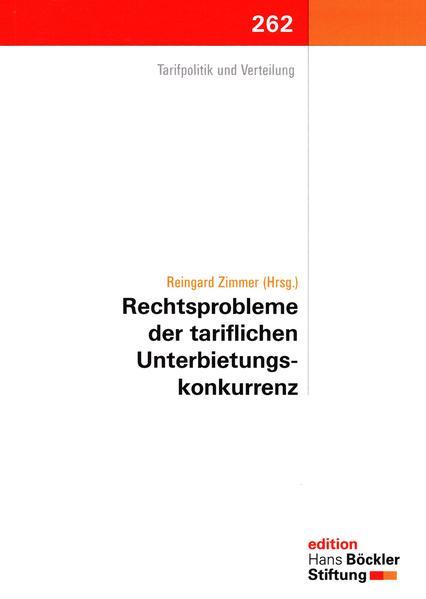 Rechtsprobleme der tariflichen Unterbietungskonkurrenz - Coverbild