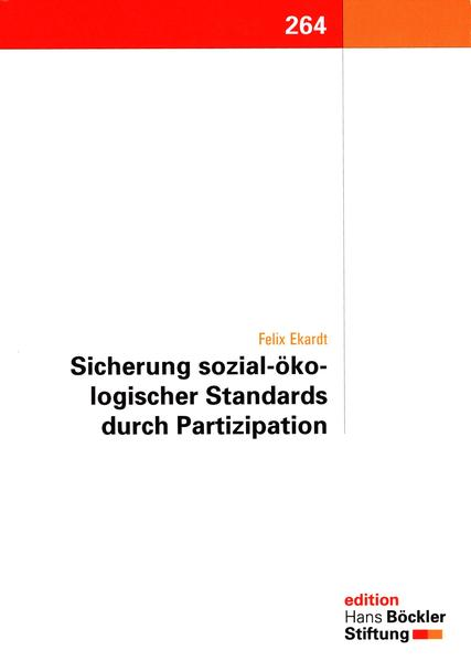 Sicherung sozial-ökologischer Standards durch Partizipation - Coverbild