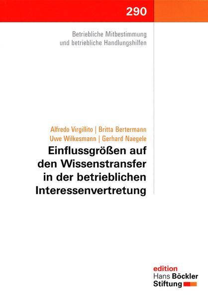 Einflussgrößen auf den Wissenstransfer in der betrieblichen Interessenvertretung - Coverbild