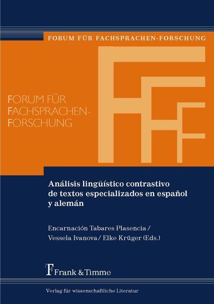 Análisis lingüístico contrastivo de textos especializados en español y alemán - Coverbild