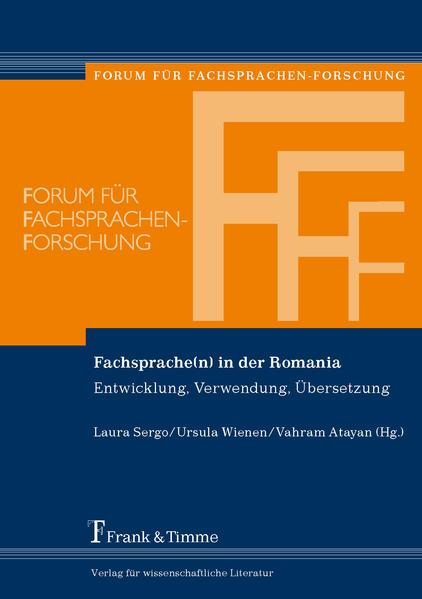Fachsprache(n) in der Romania - Coverbild
