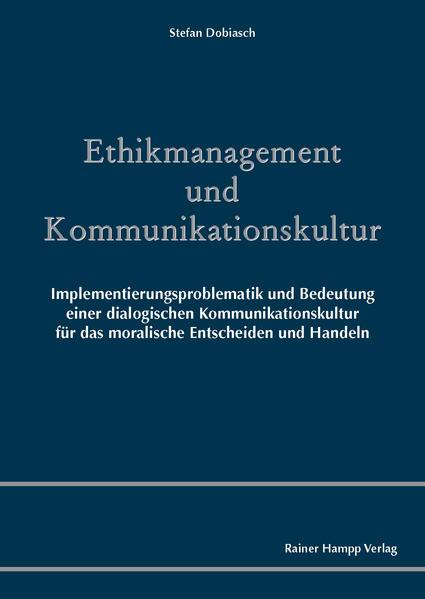 Ethikmanagement und Kommunikationskultur - Coverbild
