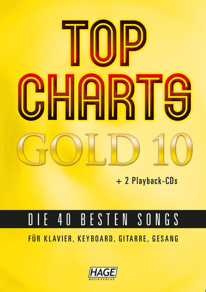 Top Charts Gold 10 + 2 CDs + Midifiles im GM/XG/XF-Format (USB-Stick) - Coverbild
