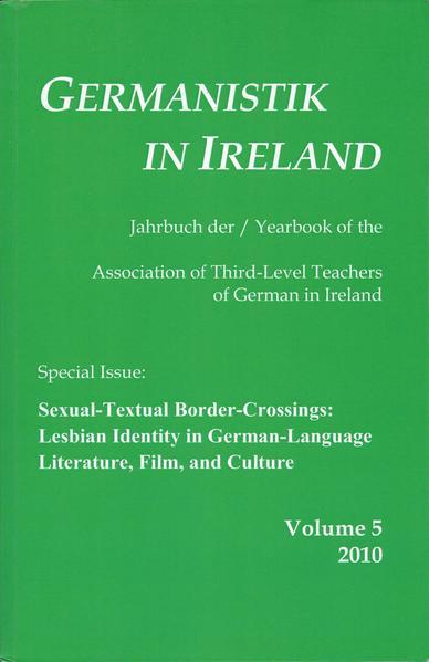 Sexual-Textual Border-Crossings: Lesbian Identity in German-Language Literature, Film, and Culture - Coverbild